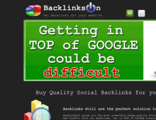 backlinkson.com screenshot