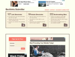 backlinkssubmitter.net screenshot