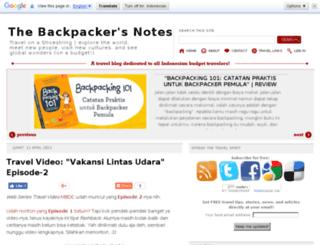 backpacker-notes.blogspot.com screenshot