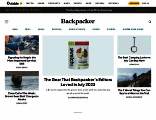backpacker.com screenshot