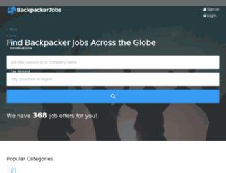 backpackerjobs.org screenshot