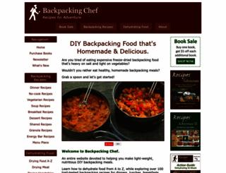 backpackingchef.com screenshot