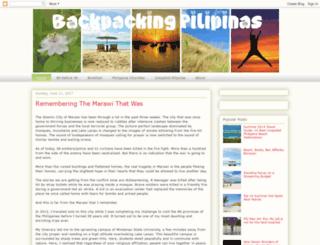 backpackingpilipinas.com screenshot