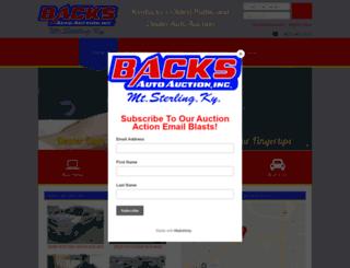 backsautoauction.com screenshot