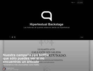 backstage.hipertextual.com screenshot