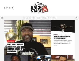 backstageol.com screenshot