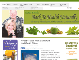 backtohealthnaturally.com screenshot