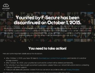 backup.f-secure.com screenshot