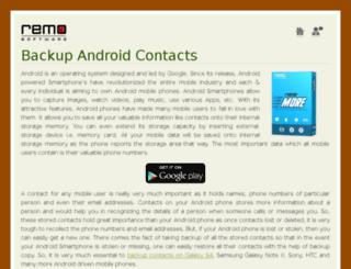 backupandroidcontacts.com screenshot