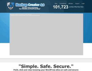 backupcreator.com screenshot