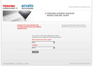 backupmedia.toshiba.eu screenshot