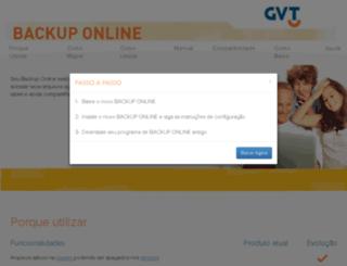 backuponlinegvt.com.br screenshot