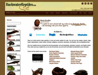 backwaterreptiles.com screenshot