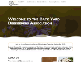 backyardbeekeepers.com screenshot