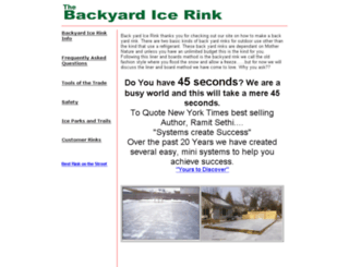 backyardicerink.com screenshot
