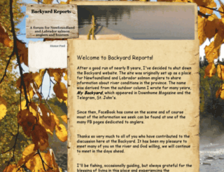 backyardreports.com screenshot