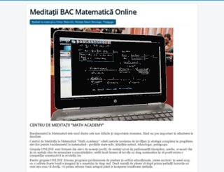 bacmatematica.ro screenshot