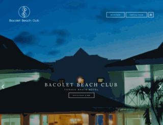 bacoletbeachclub.com screenshot