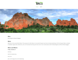 bacon.boardingarea.com screenshot