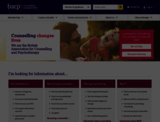 bacp.co.uk screenshot