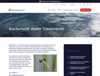 bacterius.ca screenshot