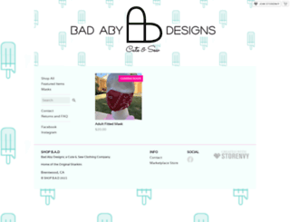 badabydesigns.storenvy.com screenshot