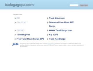 badagagopa.com screenshot