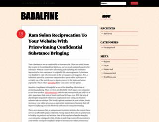 badalfine.wordpress.com screenshot