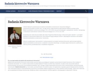 badania-kierowcow.info.pl screenshot