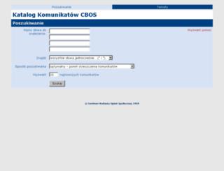 badanie.cbos.pl screenshot