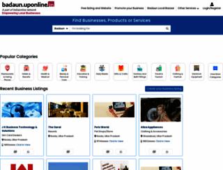 badaun.uponline.in screenshot