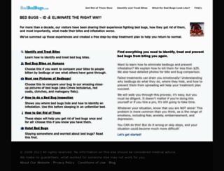 badbedbugs.com screenshot