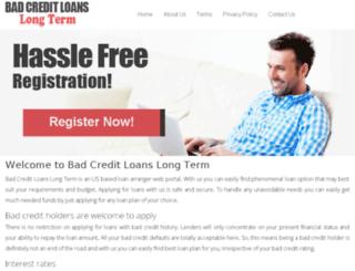 badcreditloanslongterm.com screenshot