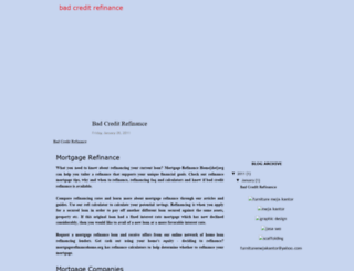badcreditrefinance.blogspot.com screenshot