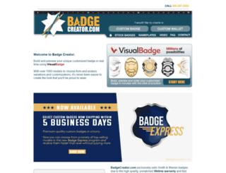 badgecreator.com screenshot