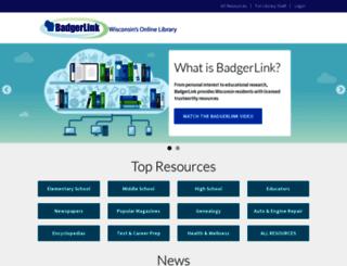 badgerlink.net screenshot