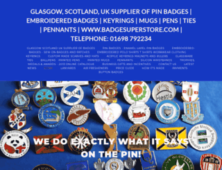 badgesuperstore.com screenshot