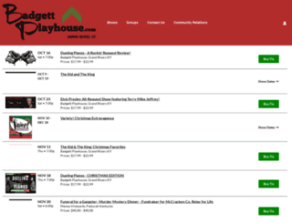 badgettplayhouse.tix.com screenshot