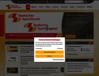 badischer-sportbund.de screenshot