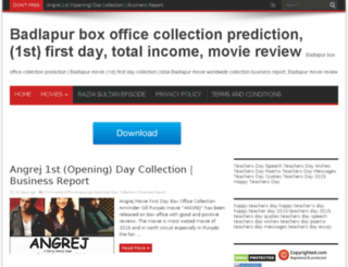badlapurboxofficecollection.co.in screenshot
