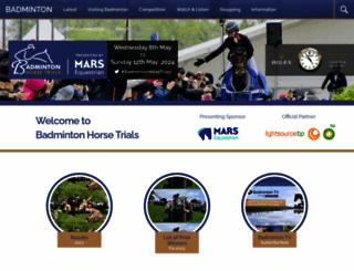 badminton-horse.co.uk screenshot