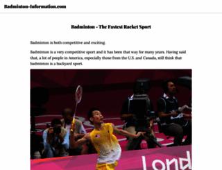 badminton-information.com screenshot