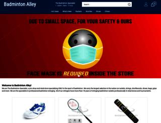 badmintonalley.com screenshot