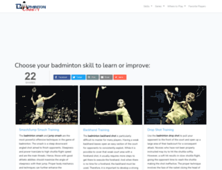 badmintonconnect.com screenshot
