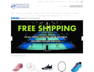 badmintonshop.com.au screenshot