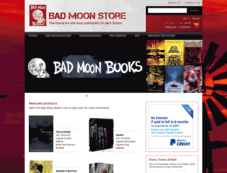 badmoonbooks.com screenshot