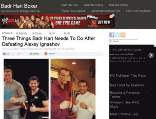 badrhariboxer.com screenshot