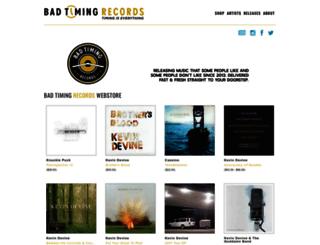 badtimingrecords.limitedrun.com screenshot