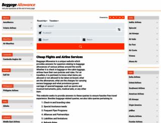 baggage-allowance.info screenshot