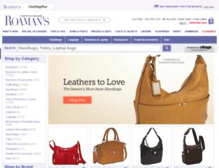 bags.roamans.com screenshot